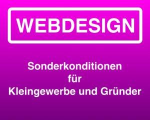 Webdesign Sonderkonditionen für Kleingewerbe und Gründer