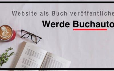 Website als Buch veröffentlichen