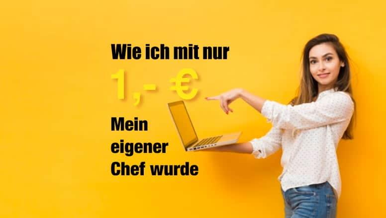 Mit 1 EUR selbstständig machen