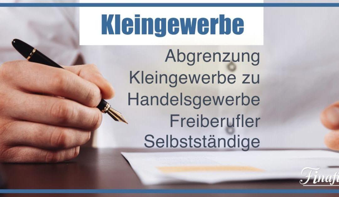 7 Kriterien – Abgrenzung Kleingewerbe / Freiberufler / Selbstständige